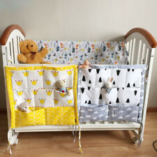 Baby Hanging Storage Bag Bed Crib Cotton Pocket Organizer Diaper Cot Toy Bedding