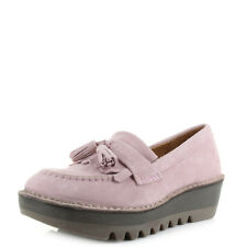 Womens Fly London Juno Pink Loafer Suede Slip On Shoes Size