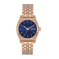 Nixon Medium Time Teller Womens Watch - Rose Gold Indigo Black One Size