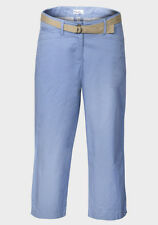 KIM ROGERS Blue Womens Ladies Cropped 3/4 Trousers Cotton Rich 10-20 £9.95