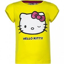 MANGA CORTA CAMISETA NIÑO HELLO KITTY AMARILLO