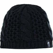 North Face Cable Minna Womens Headwear Beanie Hat - Tnf Black One Size