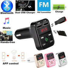 Dual USB Bluetooth Handsfree Car Kit Charger FM Transmitter MP3 Player UK