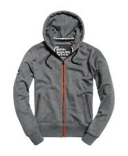 SUDADERA SUPERDRY NARANJA LABEL URBAN ZIPHOOD CHARCOAL