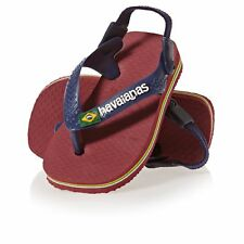 Havaianas Baby Brasil Logo Chaussures Tongs - Red Toutes Tailles