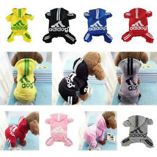 Super Cute Warm Fleece Adidog Hoodie Clothes Sweatshirt For Puppy Pet Dog Cat