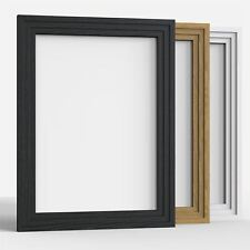 Photo Frame Picture Frames Step Style Black White Oak Large square All Sizes