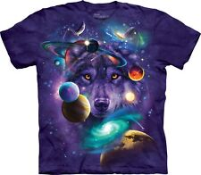 Mountain Maglietta Unisex Adulto Wolf of the Cosmos Wolves