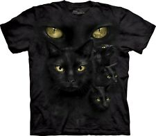 The Mountain Maglietta Black Cat Moon Eyes Adulto Unisex