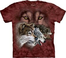 The Mountain Maglietta Find 9 Wolves Wolf Adulto Unisex