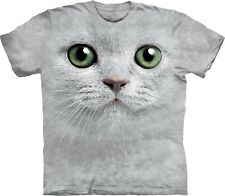 The Mountain Maglietta Green Eyes Face Cats Adulto Unisex