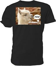 Alpaca T shirt - Choice of size & colours. Hola!