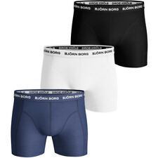Bjorn Borg Solids 3 Pack Mens Underwear Boxer Shorts - Blue Depths All Sizes