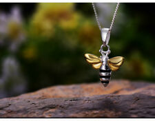 925 Sterling Silver Bee Pendant | 'Lovely Honey Bee' | Chain Opt