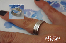 Anillo Sortija en Acero Mujer Plateado- Womens Stainless Steel Silver Band Ring