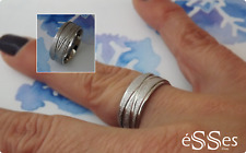 Anillo Sortija en Acero Mujer - Womens Stainless Steel Band Ring