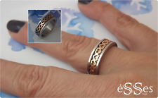 Anillo Mujer Acero dos tonos - Stainless Steel Womens Ring Silver/Rose Gold