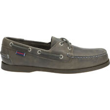 Sebago Docksides Homme Chaussures Mocassins - Grey Leather Toutes Tailles