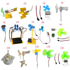 Small Wind Turbines Generator DC Motor LED Display Kids Toy Project DIY Kits Set