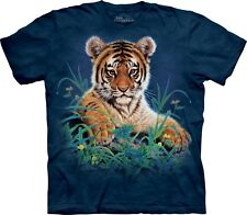 Mountain Maglietta Tiger Cub in Grass Animal Bambino Unisex