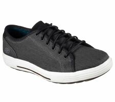 Skechers Porter Meteno Trainers Mens Memory Foam Canvas Plimsoles Shoes 64935