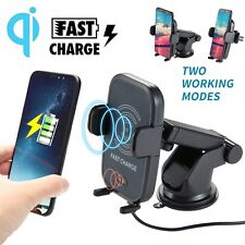 10W QI Wireless Charger Sensing Car Mount Holder For iPhone X 8 Samsung Note8 S8