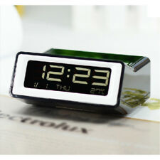 1 pc Reloj Despertador Digital con Temperatura Rectangular Numérico de Mesa