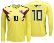 adidas 2018 World Cup Colombia Men's Home Jersey LS BR3511 w/ James 10 1805