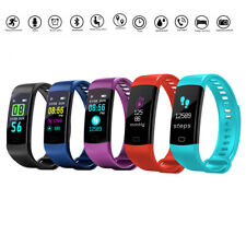 Bluetooth 4.0 Smart Bracelet Wristband Watch Heart Rate Monitor For IOS Android