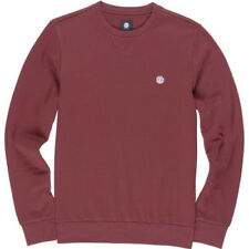 Element Cornell Classic Crew Homme Pull Sweater - Oxblood Red Toutes Tailles