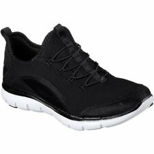 Skechers Flex Appeal 2.0 Mixed Media Femme Chaussures Chaussure - Black White