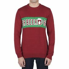 Volcom Strangebrew Homme Pull Sweater - Blood Red Toutes Tailles