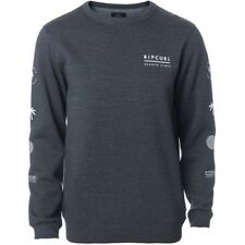 Rip Curl Stacked Vibes Homme Pull Sweater - Dark Marle Toutes Tailles