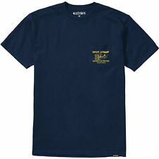 Etnies Beer And Fish Homme T-shirt à Manche Courte - Navy Toutes Tailles