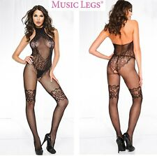 Bodystocking inguine aperto Charlotte MusicLegs Sexy shop donna intimo lingerie