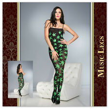 Bodystocking Leaf Music Legs 1260 Sexy shop lingerie notte donna intimo erotic