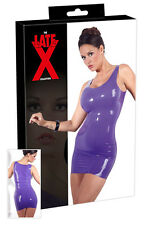 Mini abito aderente in lattice viola Latex Sexy shop intimo erotic donna Fetish