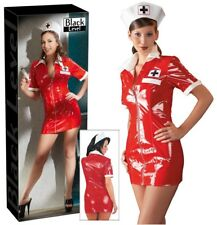Sexy Abito infermiera in vinile rosso Hot Nurse Black Level fetish erotic sexx