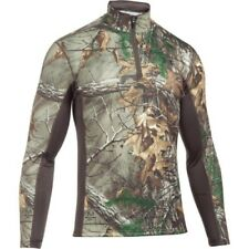 Under Armour Tactical Base Extreme 1/4 Zip Homme Seconde Peau - Camo