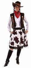 Cowgirl Womens Plus Size Western Fancy Dress Costume Outfit Size 12 - 18