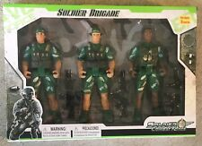 New Soldier Brigade Soldier Combat Force Toy Soldier Playset 3 Soldiers