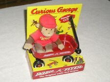 1998 CURIOUS GEORGE BY GUND, WITH RADIO FLYER WAGON NEW IN BOX
