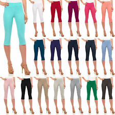 Womens Classic Fit Capri Pants - Pull On Style Capris with Detailed Design
