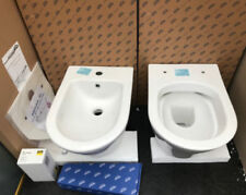 Concealed Cistern Grohe Rapid Complete Set Wall Toilet without Flush Rim + Bidet