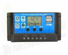 10A/20A/30A 12V/24V LCD Solar Panel Battery Regulator Charge Controller Dual USB