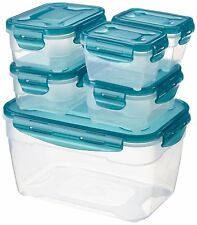 Combo Airtight High Grade Clear Plastic Food Storage Container Set w/ Lock Lids