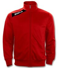 JOMA VICTORY TRICOT TRACK TOP FULL ZIP RED/BLACK  ADULT S RRP £17 BNWT