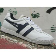 Scarpe Gola Harrier Leather CMA198WE Uomo Sneakers White Navy Casual Moda