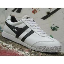 Scarpe Gola Harrier Leather CLA198WB204 IT Donna Sneakers White White Black Spor