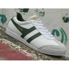 Scarpe Gola Harrier Leather CMA198WN207 IT Uomo Sneakers White Dark Green Casual